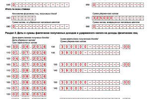Пример заполнения 6-НДФЛ: титульный лист, разделы 1 и 2