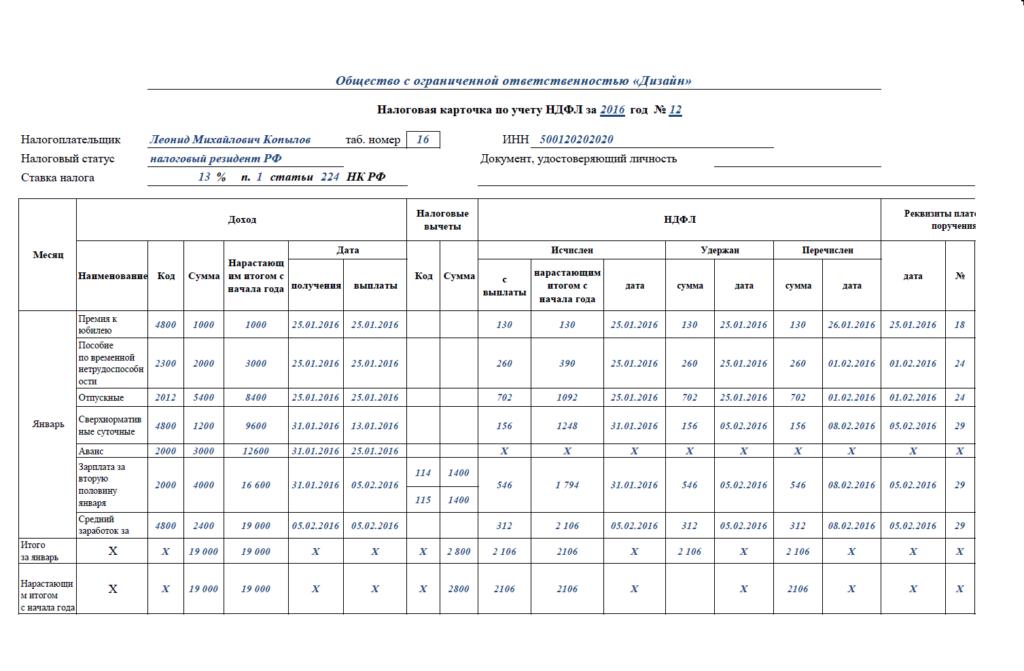 Регистры по Налогу на Прибыль образец - картинка 1