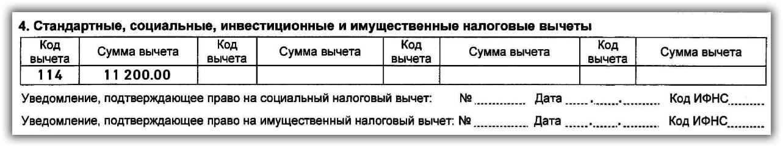 вычеты по НДФЛ