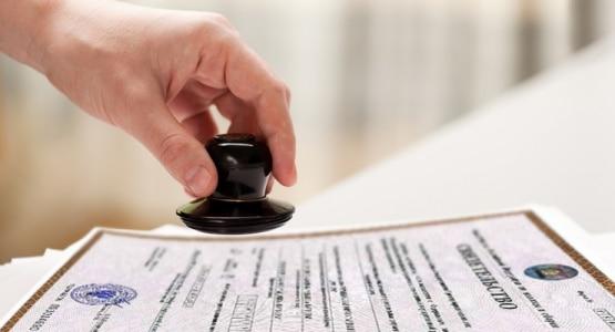 печать и свидетельство о регистрации