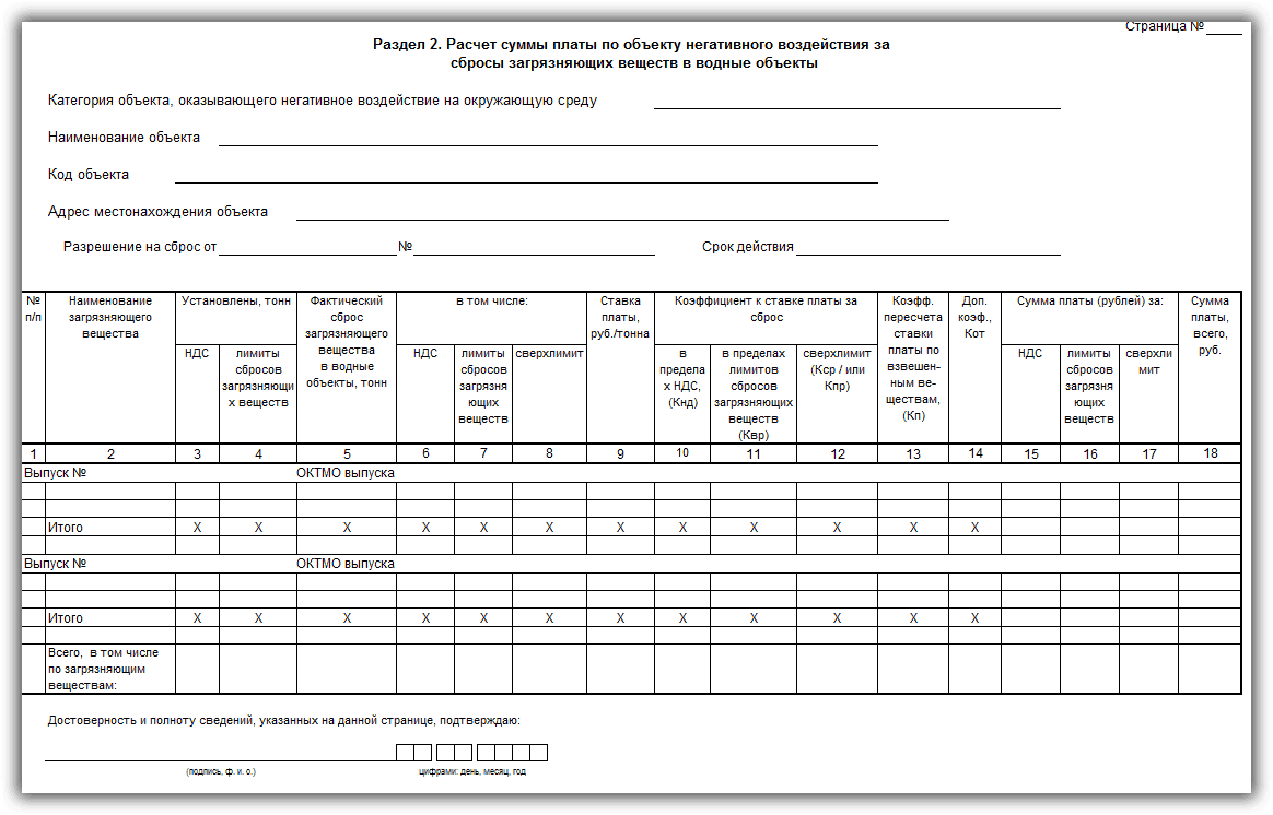раздел 2 декларации НВОС